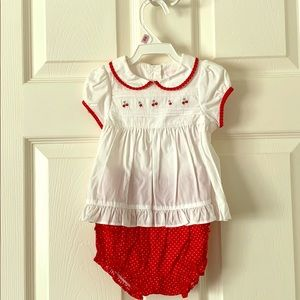 Janie and Jack two piece set, size 6-12months